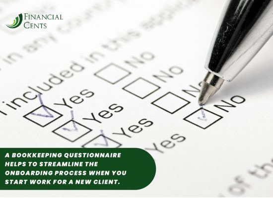 a bookkeeping questionnaire helps to streamline the onboarding process