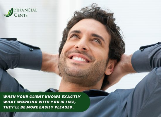 your clients are pleased when you set clear expectations
